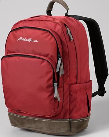 eddie bauer,backpack,red