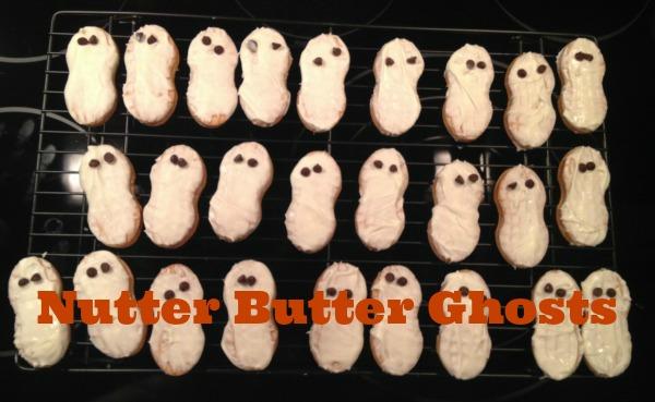 Nutter Butter,cookies,ghosts,halloween