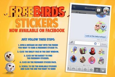 free birds,movie,facebook stickers