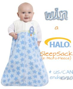 October is SIDS Awareness Month - HALO Micro-Fleece SleepSack Giveaway