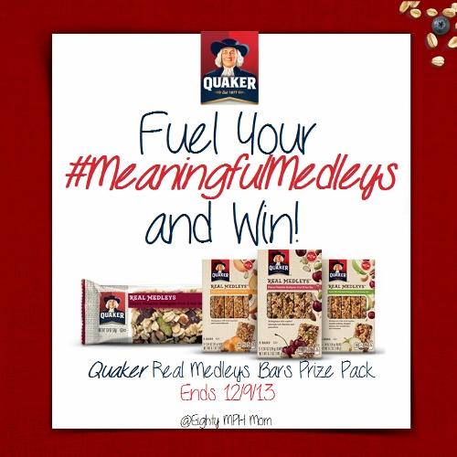 Quaker Real Medleys Bars Giveaway