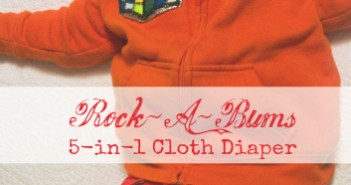 Rock-A-Bums 5-in-1 Cloth Diaper Review
