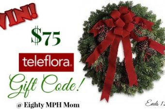 Teleflora Christmas Flowers and $75 Teleflora Gift Code Giveaway