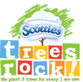 Scotties Facial Tissue TREES ROCK!