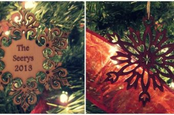 Custom Christmas Ornaments from Etsy Seller Marked Moments