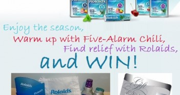 Rolaids Five-Alarm Chili Prize Pack Giveaway