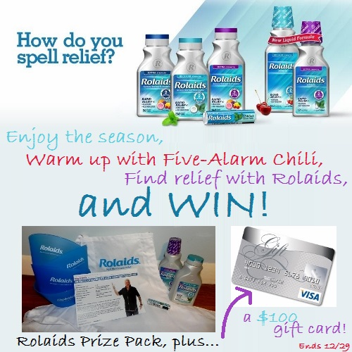 Rolaids, Five-Alarm Chili, Prize Pack Giveaway