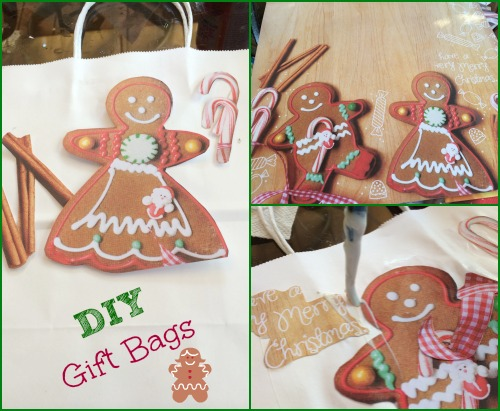 DIY gift bag, gingerbread man, #DIY