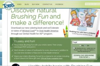 Brushing Fun with Tom's of Maine and Oral Health America