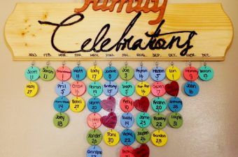 DIY Family Celebrations Board