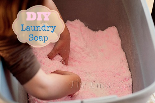 diy,laundrysoap,detergent,pink,how to make