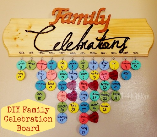 DIY family celebration board