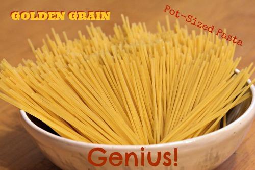 Golden Grain, Pot-Sized Pasta, Thin Spaghetti