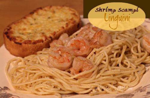 linguini,shrimp,scampi