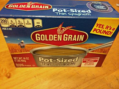 Golden Grain, Pot-Sized, Pasta,short spaghetti