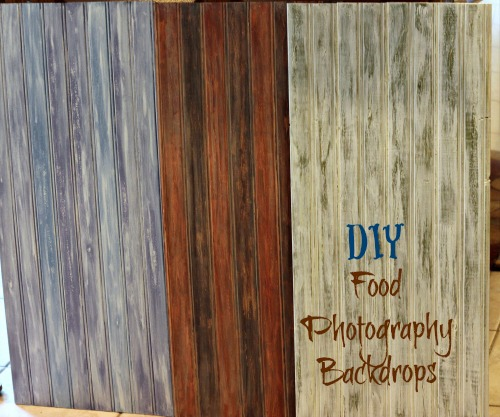 DIY, Distressed wood, food, photography, backdrops