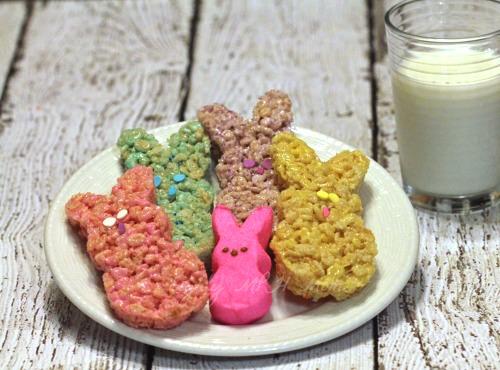 Peeps, Rice Krispie Treats,Easter Bunny,bunnies