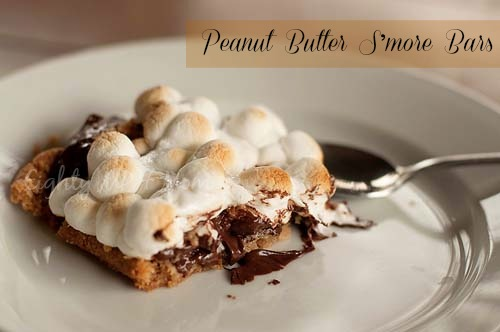 Peanut Butter, S'mores,Bars,chocolate,marshmallows