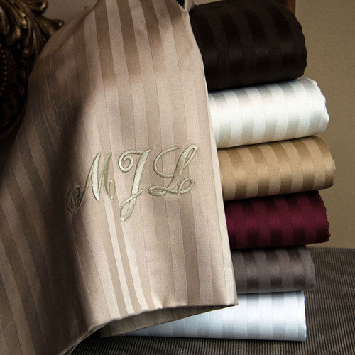 Luxor Linens Valentino Striped Sheet Set