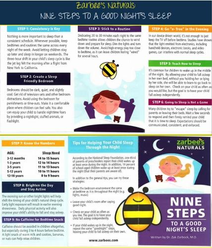 Zarbee's Naturals Sleep Tips