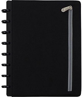 Staples, Neoprene, Black, Arc, Notebook,zipper