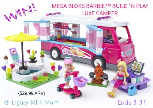 Mega Bloks,barbie,luxe camper,giveaway,playset