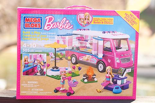 Mega Bloks,Barbie, Build 'n Play, Luxe, Camper