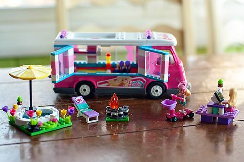 Mega Bloks,Barbie, Build 'n Play, Luxe Camper,playset