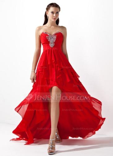 JenJenHouse A-Line/Princess Sweetheart Asymmetrical Chiffon Prom Dress {$142.99} *Source: JenJenHouse
