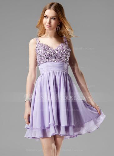 A-Line/Princess V-neck Short/Mini Chiffon Prom Dress - only $118.99! *Source: JenJenHouse