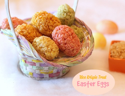 rice krispies,treats,easter,eggs,festive,snacks