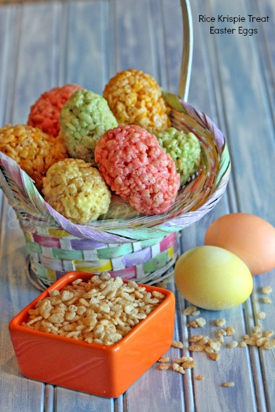 rice krispie treats,easter eggs,dessert,colorful,Easter
