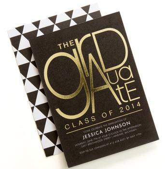 Tiny Prints, Gold, Foil Stamped, Graduation Invitation,graduation announcement
