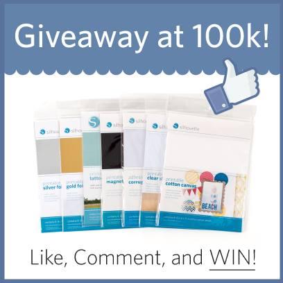 Silhouette 100K Facebook Fans Giveaway