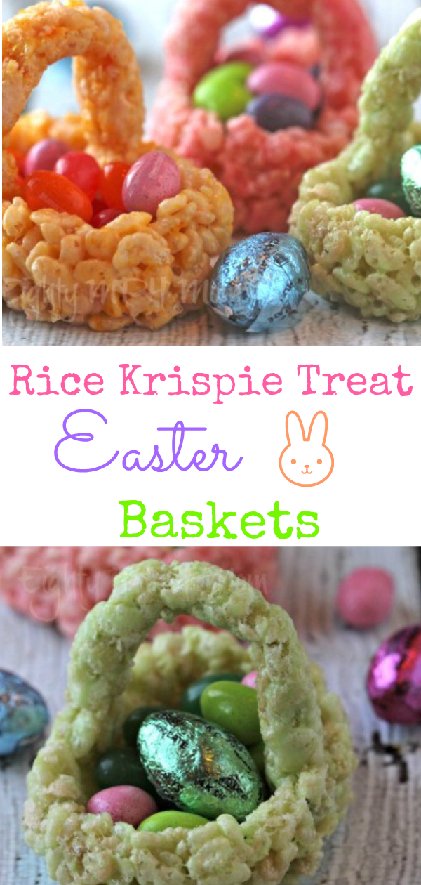 Rice Krispie Treat Easter baskets