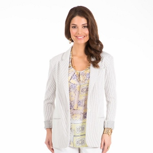 daisy fuentes Striped Blazer