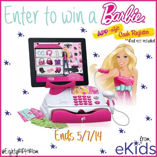 eKids Barbie App-rific Cash Register Giveaway