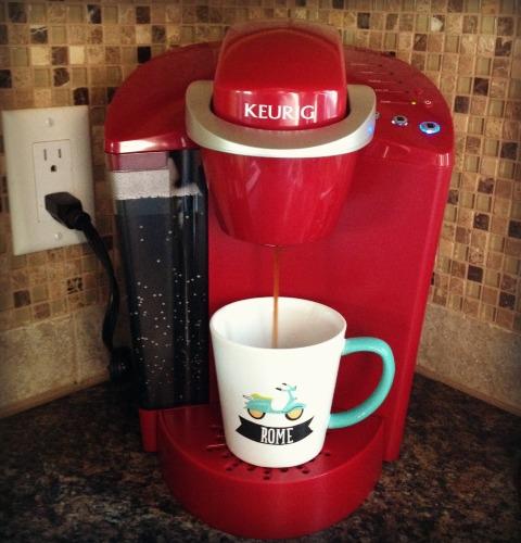 keurig brewing coffee