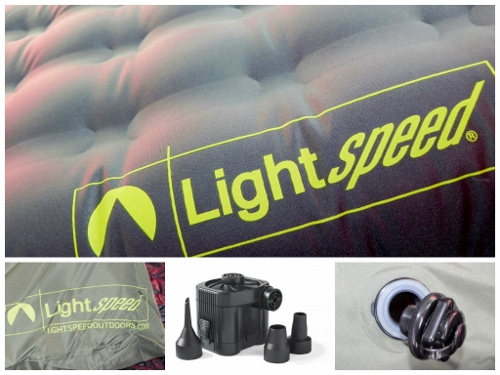 LightSpeed Outdoors PVC-Free Air Bed Collage