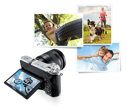 Samsung NX300 20.3MP SMART Camera Tilt Screen