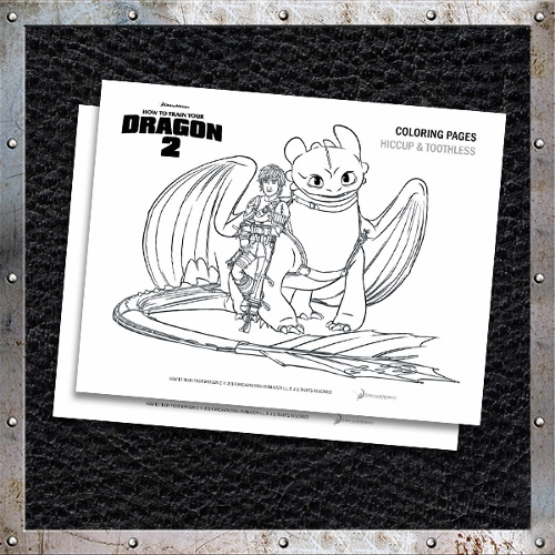 How To Train Your Dragon 2 - Coloring Pages