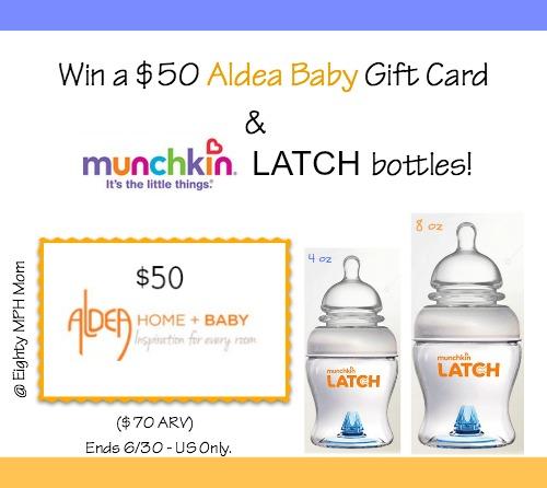 aldea baby, munchkin,bottles,giveaway, prize