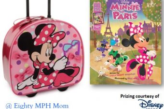 Minnie in Paris Book and Minnie Mouse Rolling Suitcase