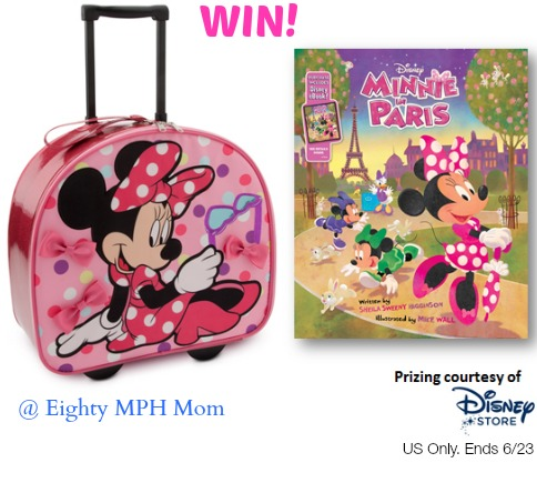 Minnie in Paris,giveaway,book,suitcase