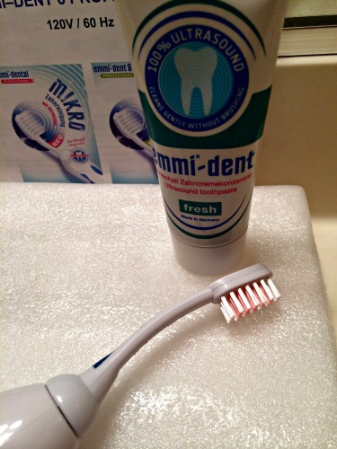 emmident, ultrasound,toothbrush,toothpaste