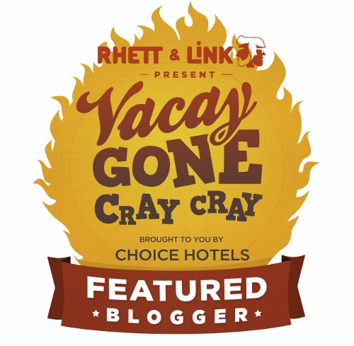 Choice Hotels #VacayGoneCrayCray Blogger Badge