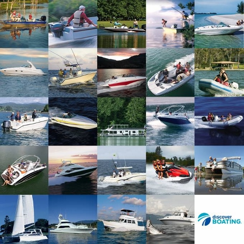 Discover Boating Collage
