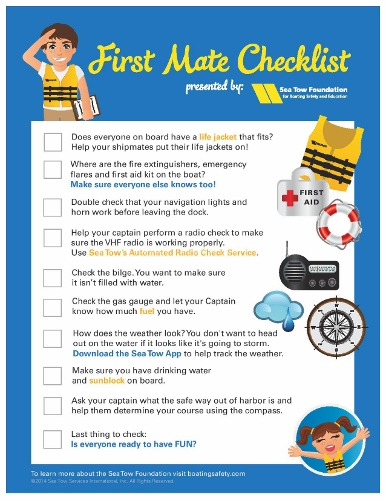 Sea Tow First Mate Checklist