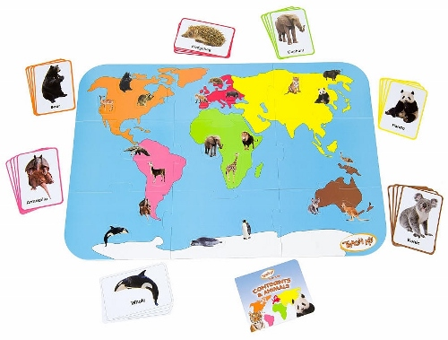 Teach My Toddler - Continents & Animals