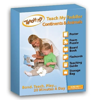 Teach My Toddler - Continents & Animals, Box